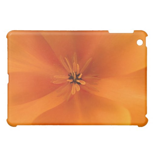California Golden Poppy Macro iPad Mini Covers