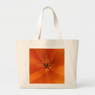 California Golden Poppy Macro Large Tote Bag
