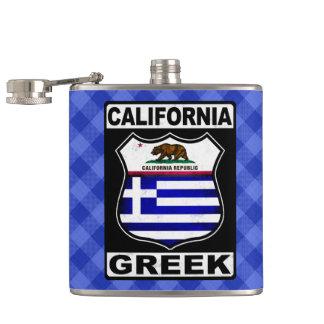 California Greek American Hipflask Hip Flask