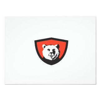 California Grizzly Bear Head Smiling Crest Retro 17 Cm X 22 Cm Invitation Card