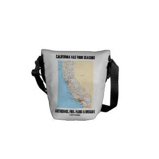 California Has Four Seasons Earthquake Fire Flood Commuter Bag