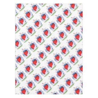 california head heart, tony fernandes tablecloth