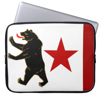 California Historical Storm Flag Laptop Sleeve