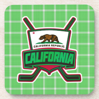California Hockey Logo Cork Coasters