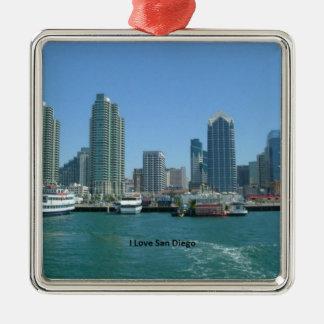 California: I Love San Diego Metal Ornament