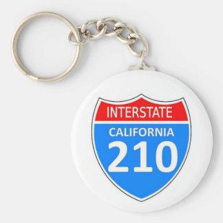 California Interstate 210 Key Ring