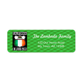 California Irish American Address Labels