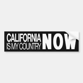 California is my country now bumper sticker