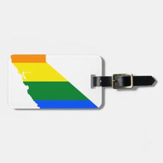 California LGBT Flag Map Luggage Tag