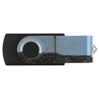 California Lighthouse in Aruba Swivel USB 2.0 Flash Drive