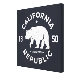 California Logo | The Golden State Canvas Print