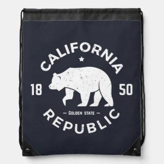 California Logo | The Golden State Drawstring Bag