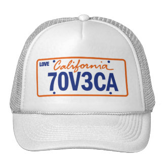 CALIFORNIA MEDAL LOVE REGISTRATION TRUCKER HAT