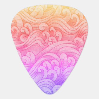 California Mermaid Tidal Waves Pink Plectrum