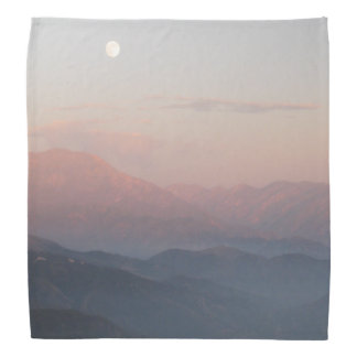 California Mountain Moonrise Bandana