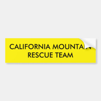 California Mountain Rescue Team Bumper Sticker