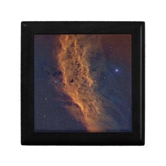 California nebula small square gift box