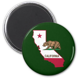 California Outline and Flag Magnet