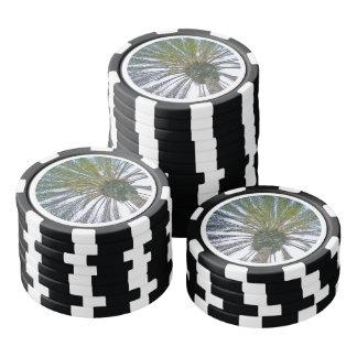 California Palm Tree Poker Chips