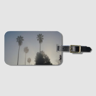 California Palm Trees in the Fog Luggage Tag