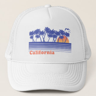 California Palm Trees Trucker Hat