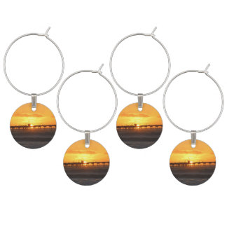 California Peer at Sunset Wine Glass Charms