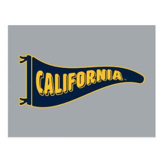 California Pennant   Cal Berkeley 5 Postcard