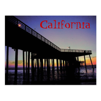 California Pier Postcard