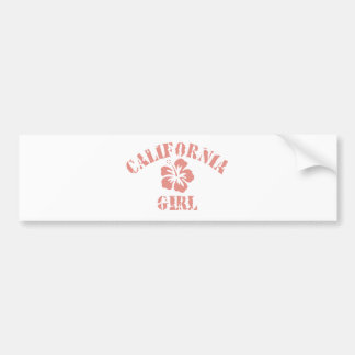 California Pink Girl Bumper Sticker