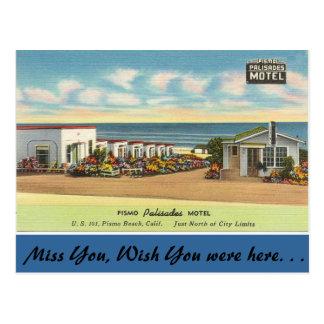 California, Pismo Palisades Motel Postcard