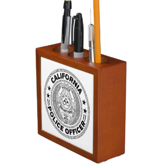 California Police Officer Desk Organiser