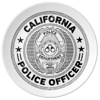 California Police Officer Plate
