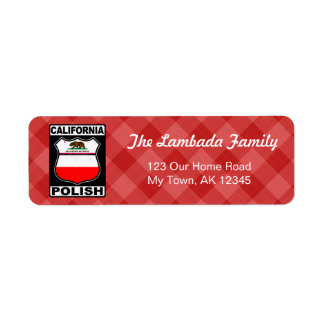 California Polish American Address Labels