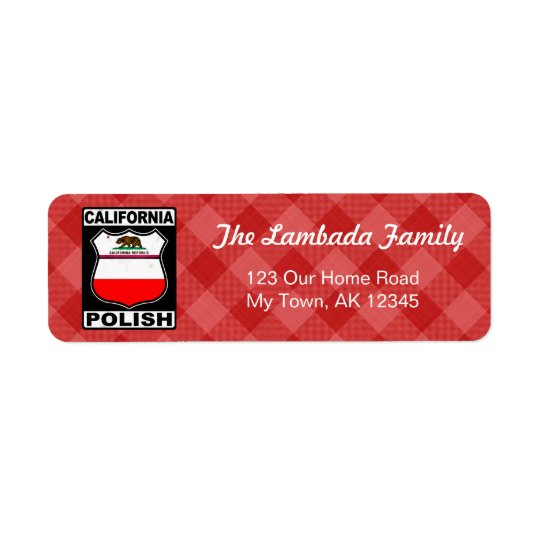 California Polish American Address Labels