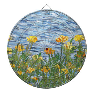 California Poppies Dartboard