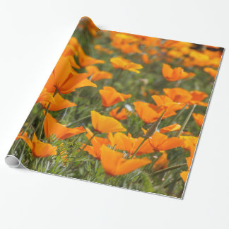California Poppies Field Wrapping Paper
