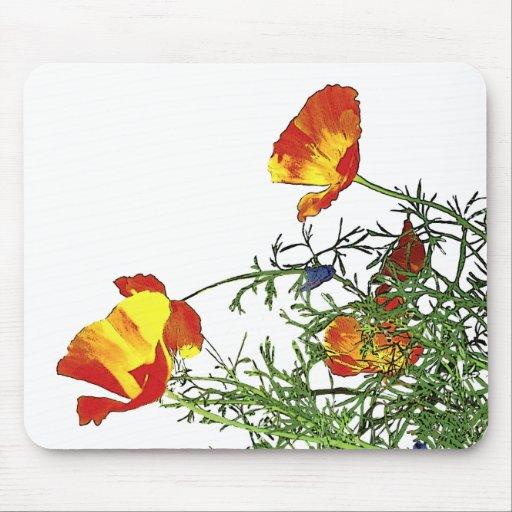 California poppies mousepads