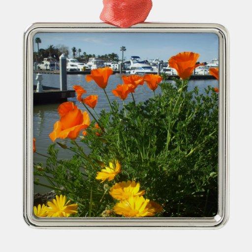 California Poppies ornament