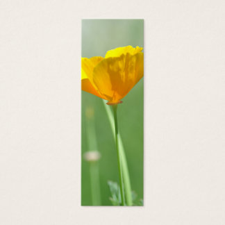 California poppy bookmark mini business card