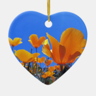 California Poppy Ceramic Ornament