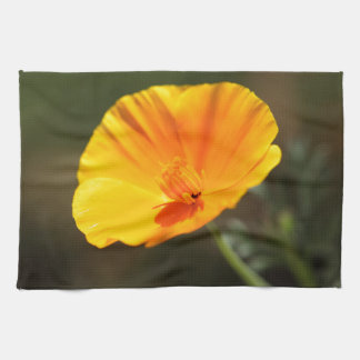 California Poppy (Eschscholzia californica) Tea Towel