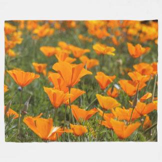 California Poppy Field Fleece Blanket