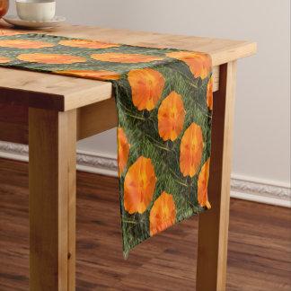 California Poppy Flower Short Table Runner