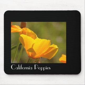 California Poppy Flowers Mousepad