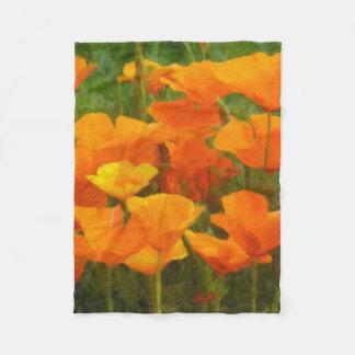 california poppy impasto fleece blanket