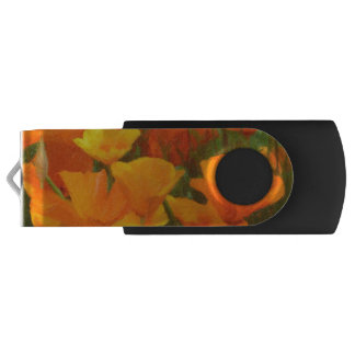 california poppy impasto USB flash drive