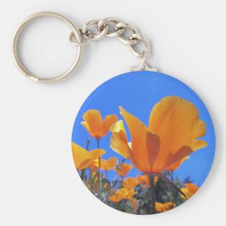 California Poppy Key Ring
