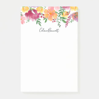 California Poppy Personalized Post-it Notes