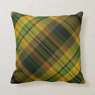 California poppy plaid pattern cushion