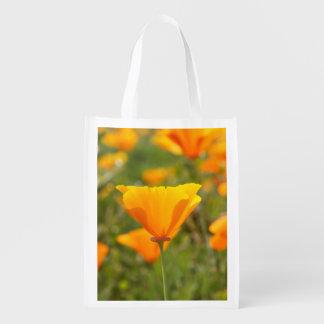 California Poppy Reusable Grocery Bag